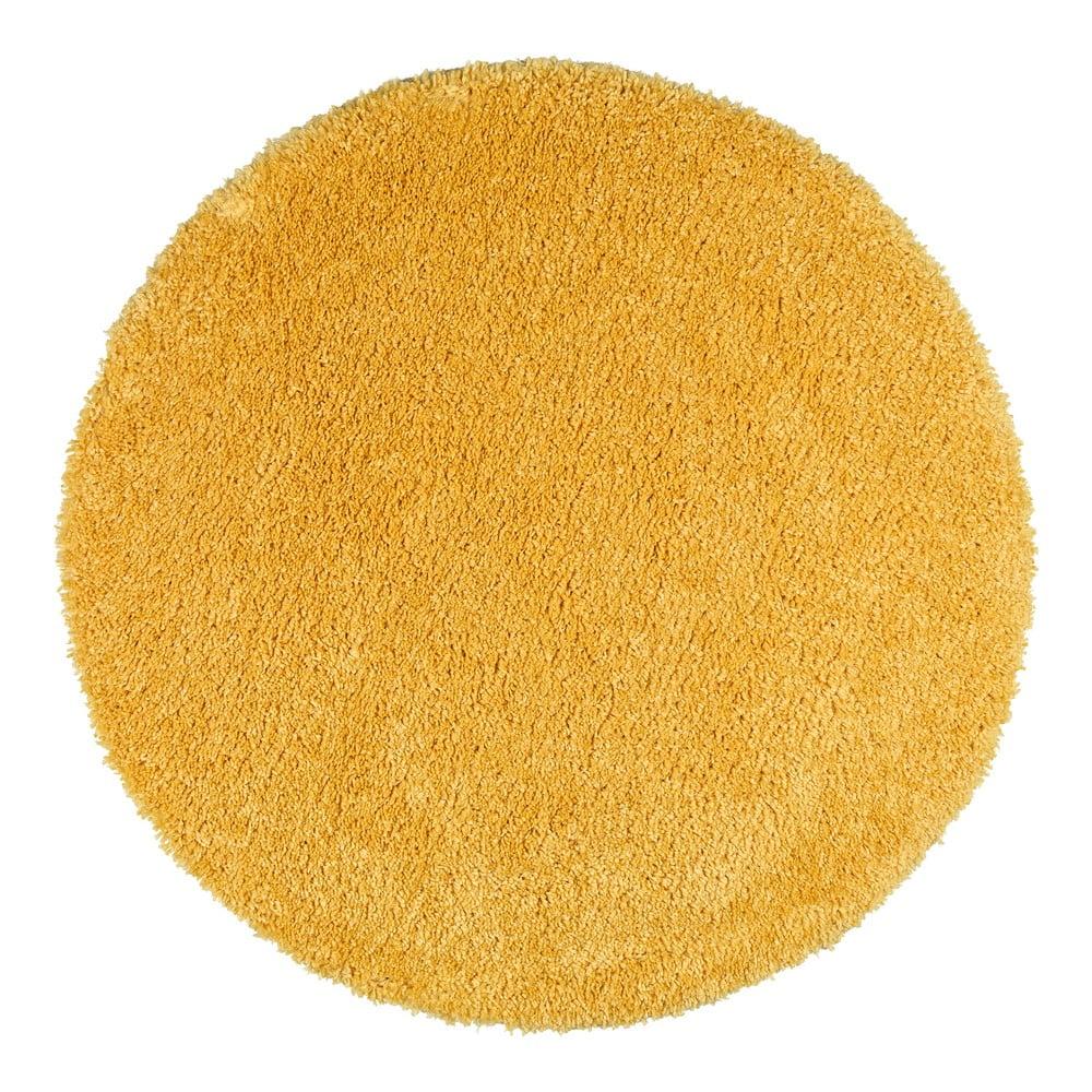 Žltý koberec Universal Aqua Liso, ø 80 cm