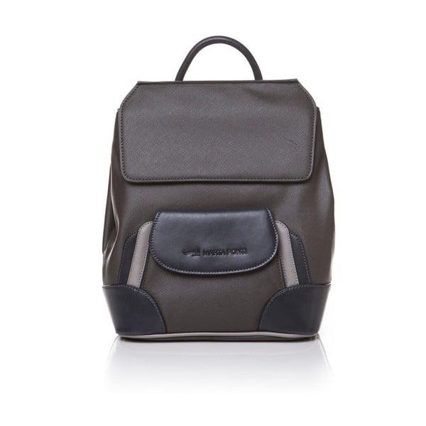 Kožený batoh Marta Ponti Aipee, hnedá/béžová