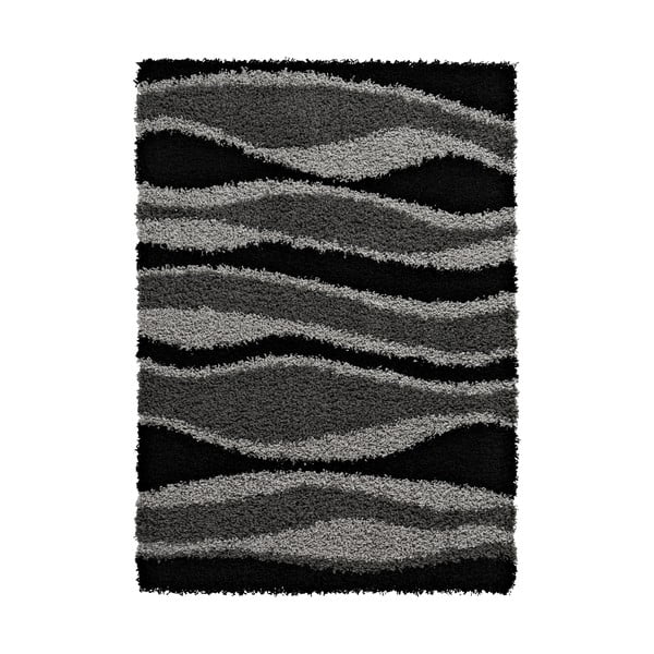 Koberec Vista Black Grey, 120x170 cm