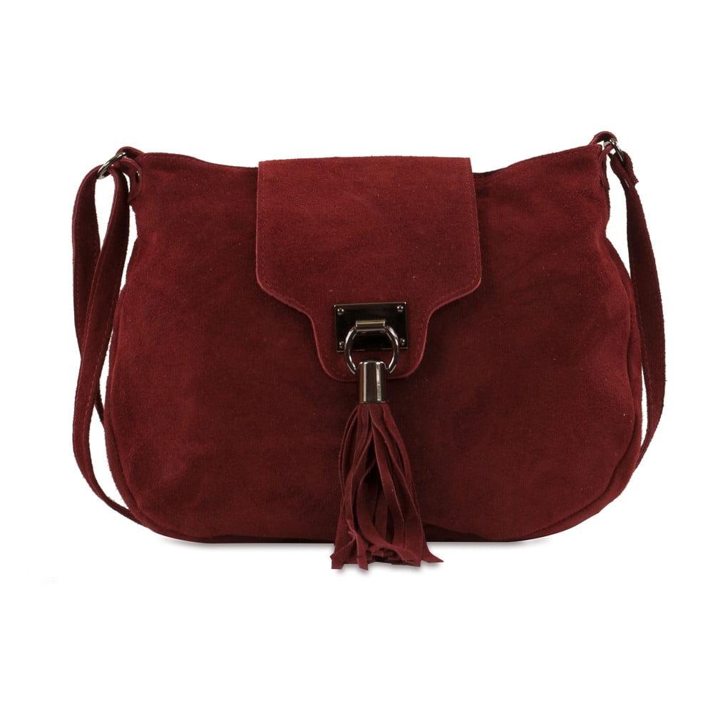 Vínová kabelka z nubukovej kože Infinitif Pexine 7dae557cd7d
