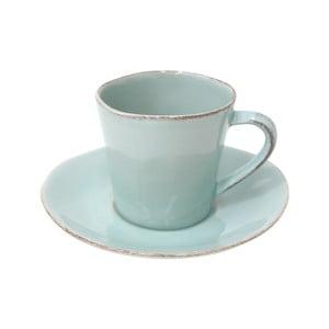 Tyrkysová keramická šálka na čaj stanierikom Ego Dekor Nova, 190ml