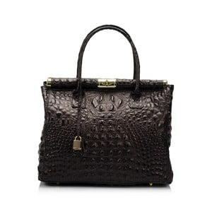 Čierna kožená kabelka Lisa Minardi Bletillia