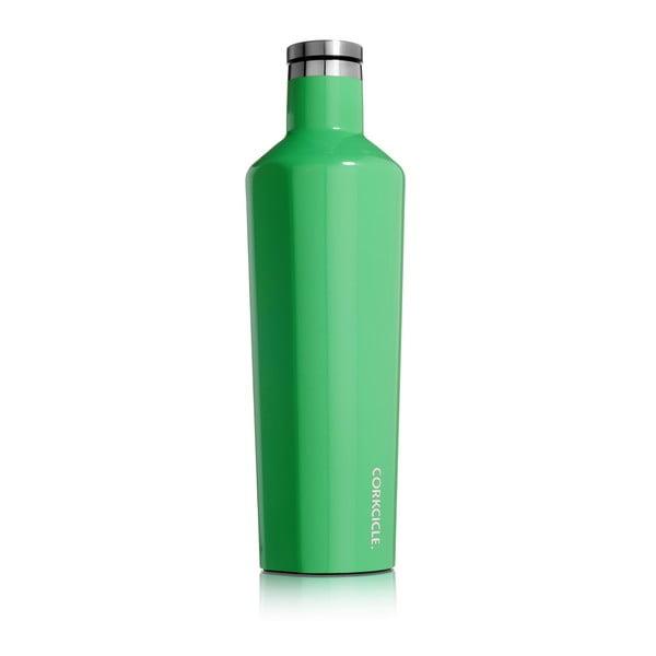 Zelená cestovná termofľaša Corkcicle Caribbean Green Large, 740 ml