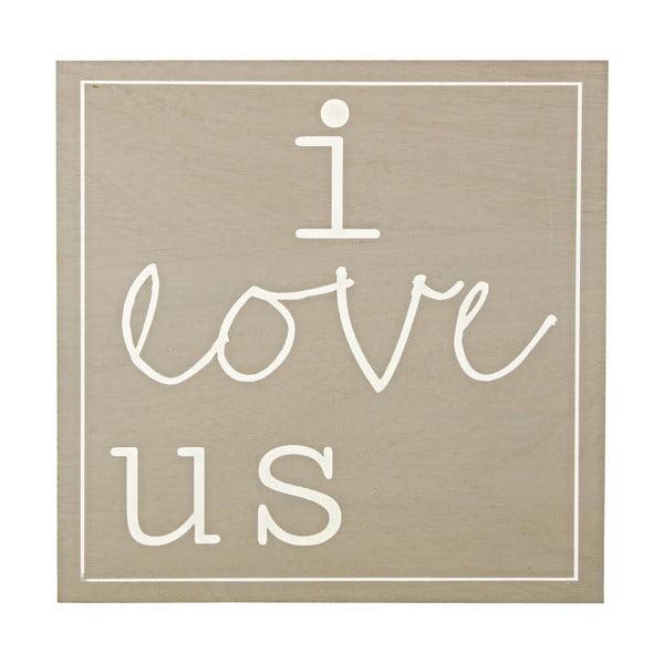 Obraz I Love Us, 30x30 cm