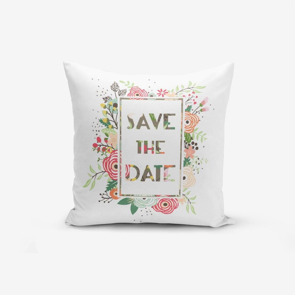 Obliečky na vaknúš s prímesou bavlny Minimalist Cushion Covers Saand, 45 × 45 cm