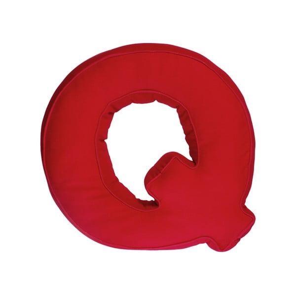 Látkový vankúš Q, červený