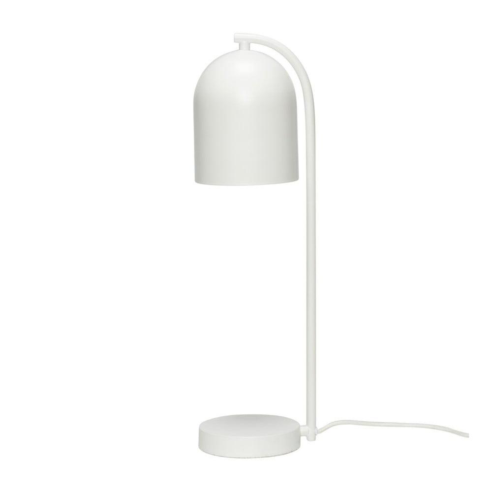 Biela stolová lampa Hübsch Bengt