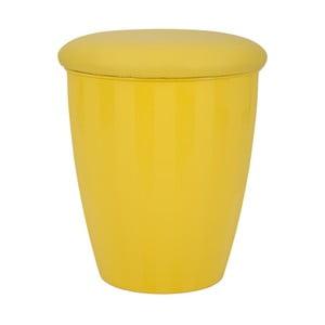 Žltá stolička s úložným priestorom Mauro Ferretti Easy