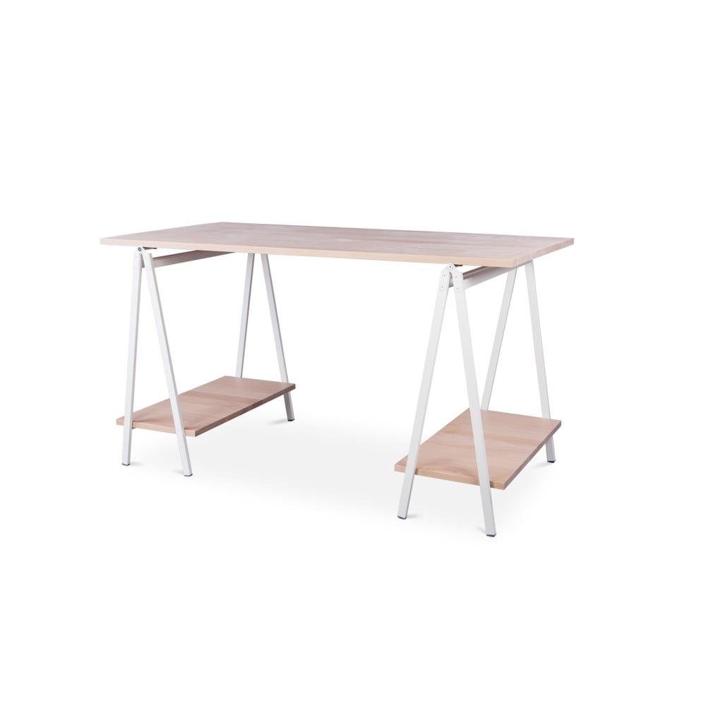 Písací stôl s doskou z bukového dreva Nørdifra Ashape