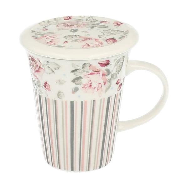 Porcelánový hrnček so sitkom Duo Gift Ruža, 250 ml