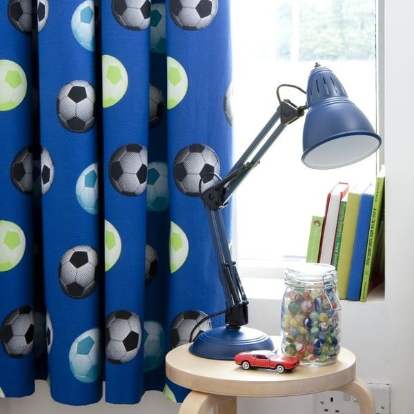 Záves Football Blue, 168x183 cm