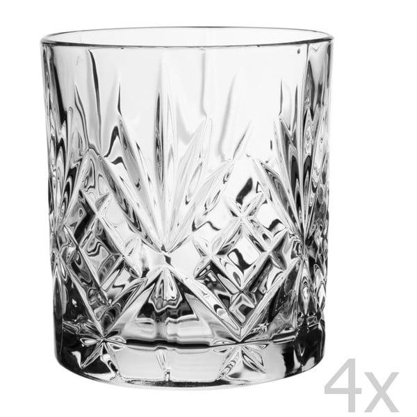 Set 4 pohárov na whisky Melodia, 310 cl
