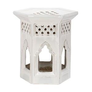 Biely keramický stolík Safavieh Malta