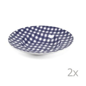 Sada 2 tanierov na cestoviny Livia 30.5 cm, modrá