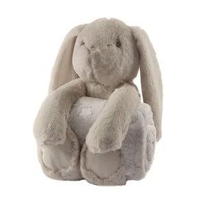 Plyšový králik s detskou dečkou Biederlack