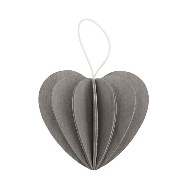 Skladacia pohľadnica Heart Grey, 4.5 cm