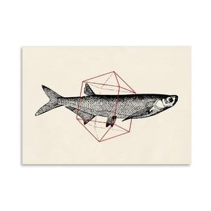 Plagát Fish In Geometrics 2 od Florenta Bodart, 30x42 cm