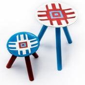 Sada 2 ručne maľovaných stoliček Lunca