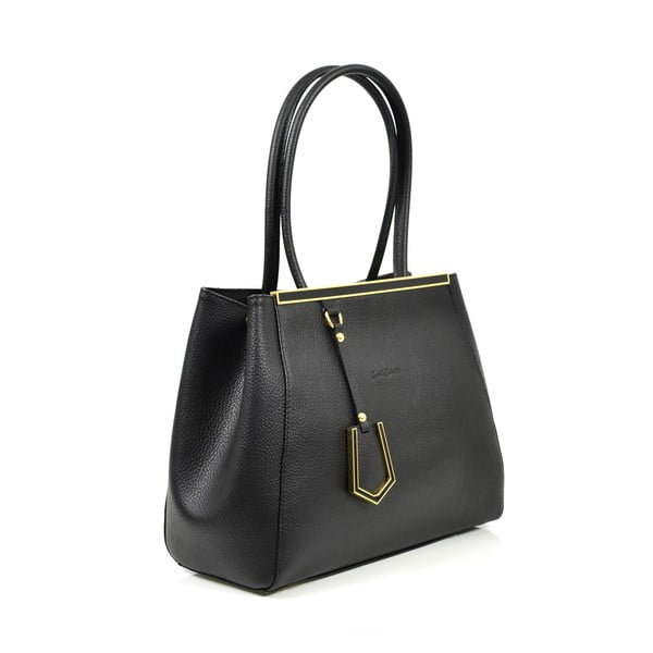Kožená kabelka Elsa, čierna