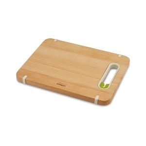 Krájacia doska s brúsičom Slice&Sharpen Small, drevená