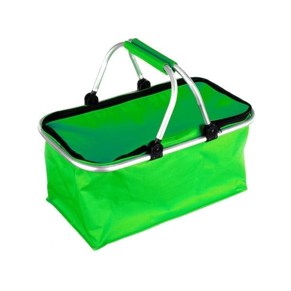 Prenosný nákupný košík Vetro, zelený