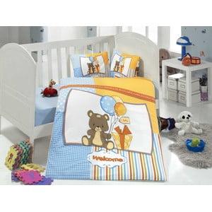 Set detských obliečok a plachty Sweet Bear, 100x150 cm