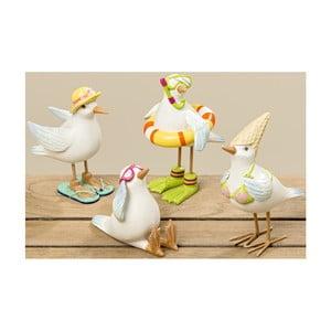 Sada 4 dekoratívnych sošiek Boltze Brad Bird