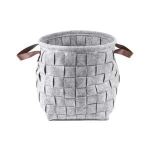 Sivý úložný košík s úchytmi Present Time Storage Bag
