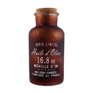 Sklenená fľaša Olive, 550 ml