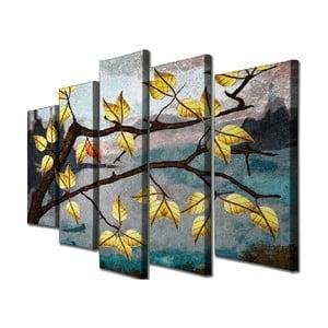 5-dielny nástenný obraz na plátne Leave Fall