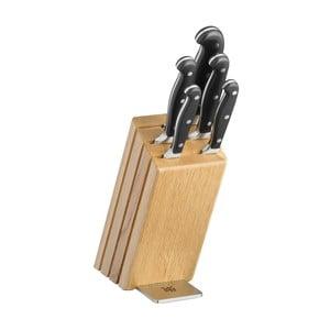 Sada 6 nožov so stojanom z dubového dreva WMF