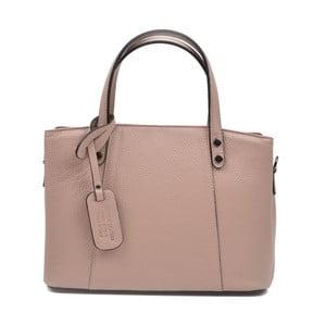 Ružovobéžová kožená kabelka Anna Luchini Marfusso