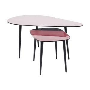 Sada 2 konferenčných stolíkov Kare Design La Costa
