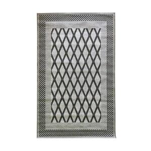 Sivý vysokoodolný koberec Floorita Net Grey, 194 x 290 cm