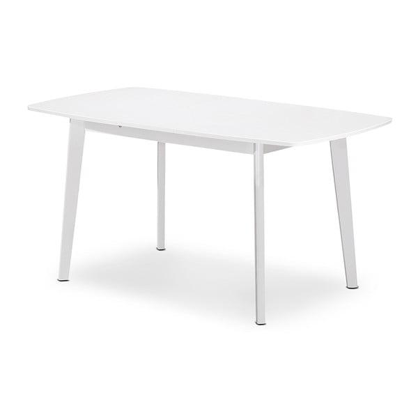 Rozkladací jedálenský stôl Teo, 120-150 cm, biely
