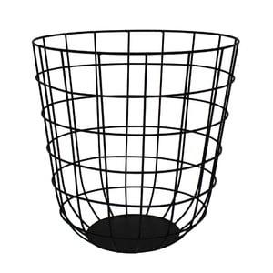 Kovový košík Netz Black, 30 cm