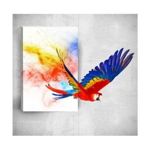 Nástenný 3D obraz Mosticx Colourful Parrot, 40×60 cm