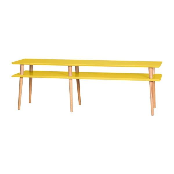 Žltý konferenčný stolík Ragaba Mugo,dĺžka 159cm
