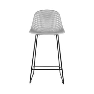 Svetlosivá barová stolička Leitmotiv Diamond Mesh