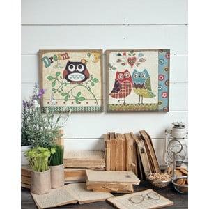 Nástenná dekorácia Owls, 2 ks