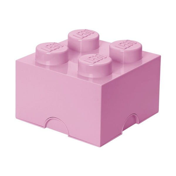 Svetloružová úložná kocka LEGO®