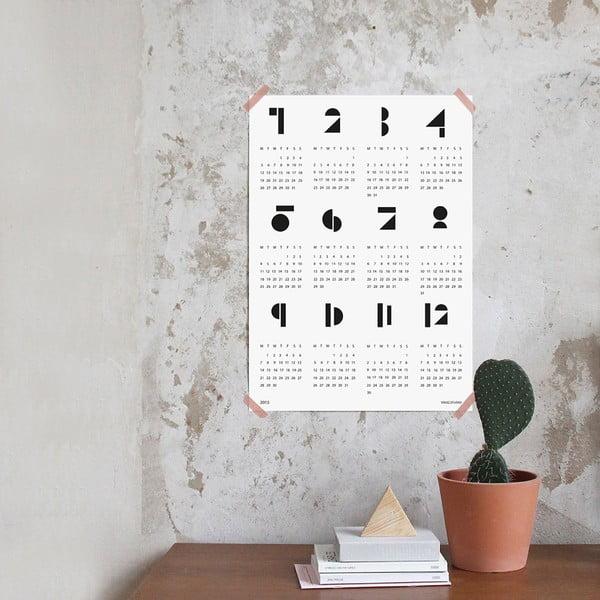 Nástenný kalendár SNUG.Toy 2016, biely