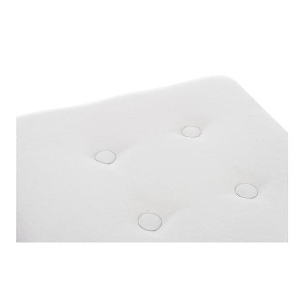 Taburetka Button White, 34x34x35 cm