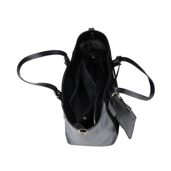 Kožená kabelka Gomeisa, čierna