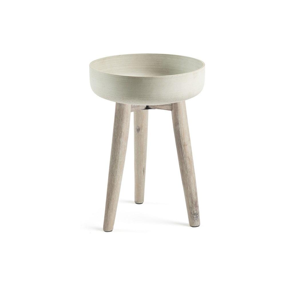 Béžový odkladací stolík La Forma Rhette, Ø 49 cm