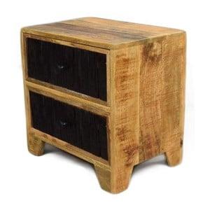 Konferenčný stolík z masívneho mangového dreva Massive Home Bella, dĺžka 50 cm