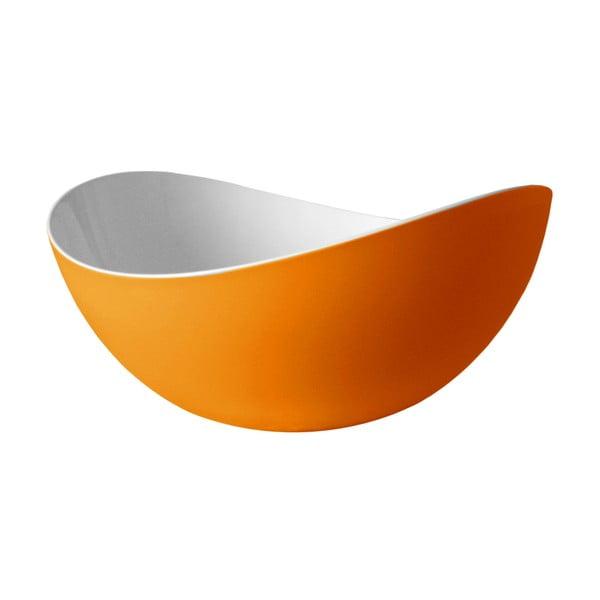 Oranžová šalátová misa Entity, 34cm