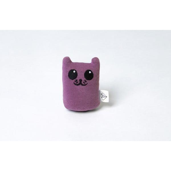 Mini plyšiak Mačička v krabičke, fialový