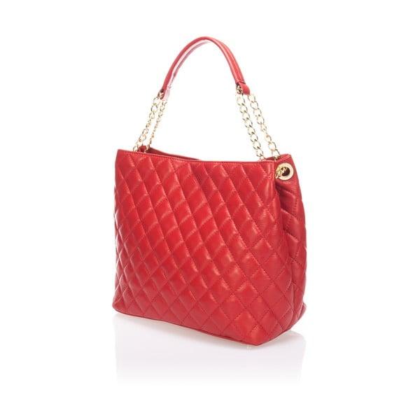 Kožená kabelka Markese 6938 Red