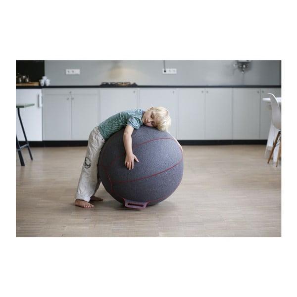 Sivo-béžová plstená lopta na sedenie VLUV, 75cm
